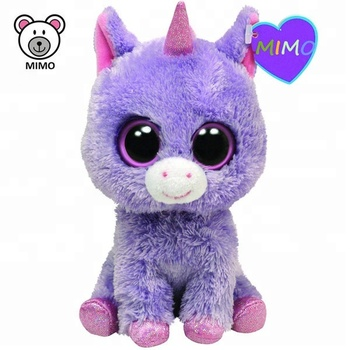 8   TY Beanie Boos Big Eyes Horse Unicorn Stuffed Animal Toy For Kids  Wholesale 96e03781019