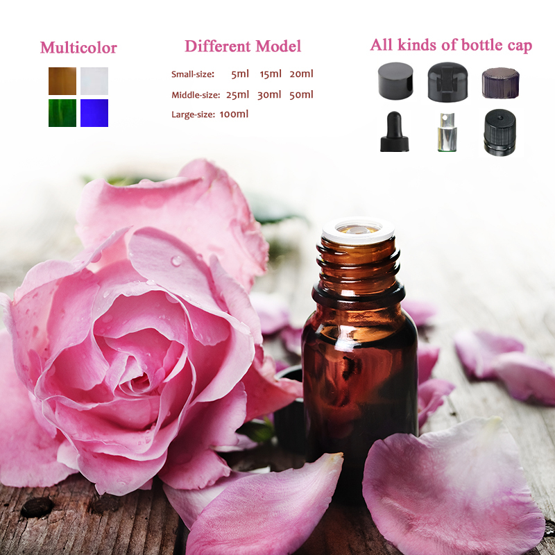 5ml 10ml 15ml 20ml 30ml 50ml 15 ml vial essential oil amber dropper glass bottle