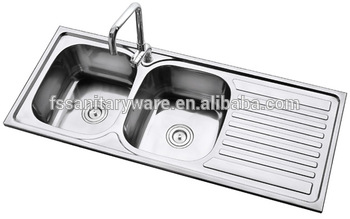 Big Size Stainless Steel Kitchen Sink For Africa Market Double