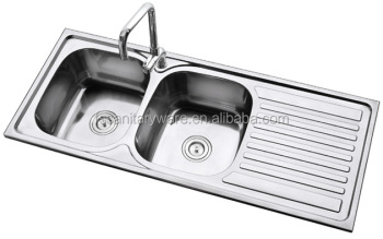 big size stainless steel kitchen sink for africa market,double bowl