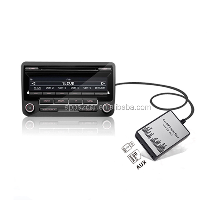 Apps2Car Car USB SD AUX Adapter For Mazda 3 5 6 CX-7