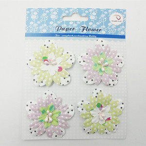 Star Pattern Paper Flower Paper Petals for Cardmaking
