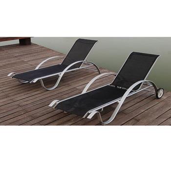 Cadre En Aluminium Chaise Salon Chaises Piscine Meubles Transat Avec Roues
