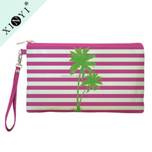 Tropical design professional basics cosmetic bag wholesale toiletry bag funny makeup cosmetic bag