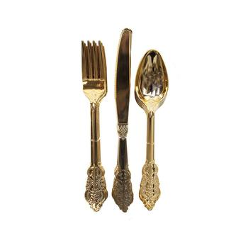 Luxury Plastic Disposable Cutlery Set Catering Dinnerware
