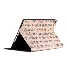 PVC protective case with Chinese brush calligraphy letters for ipad tablet hot sell in America Folding Smart Cover