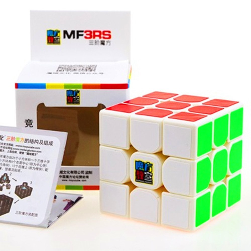 CuberSpeed Moyu MoFang JiaoShi MF3-RS White 3x3x3 Magic cube Cubing Classroom MF3 RS 3X3 White Speed cube