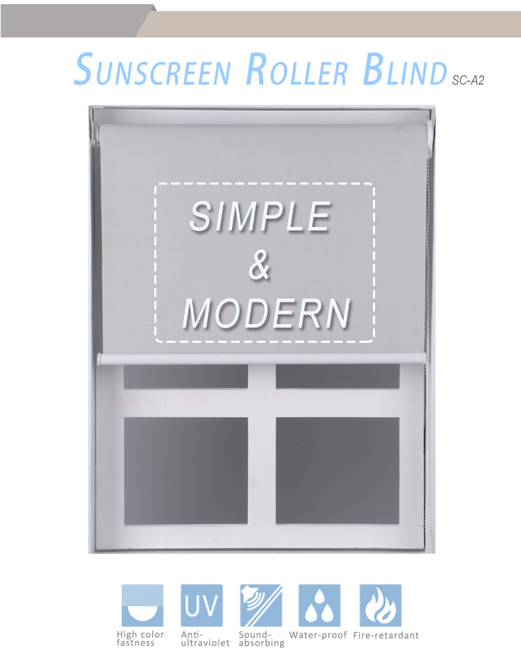 Custom design sunscreen engineering roller blind with bead rope