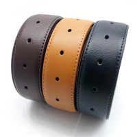 genuine leather belt strap with holes Men pin plate buckle belt without buckles belt ribbon factory