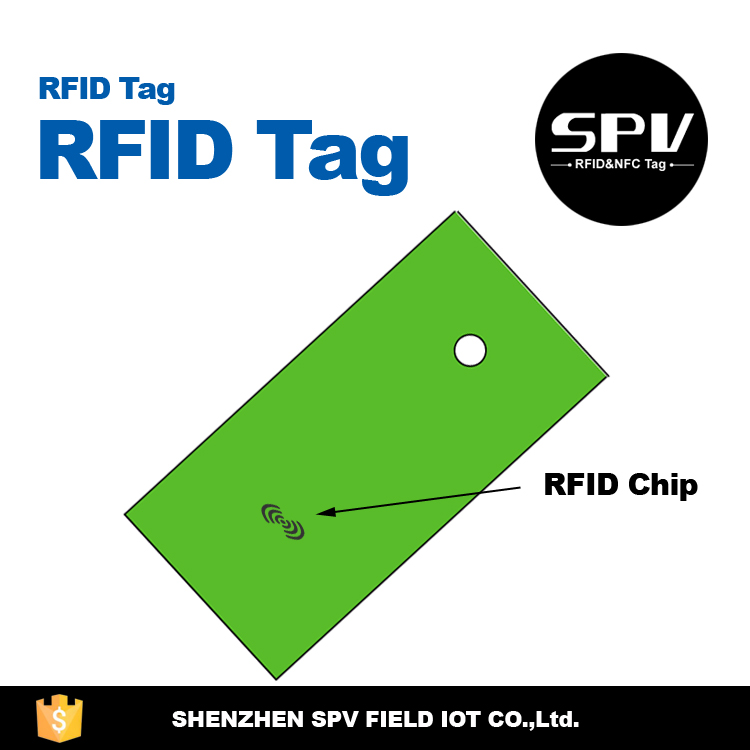 Customized Printing UHF RFID Tie Tag ISO18000-6C for Clothing Management