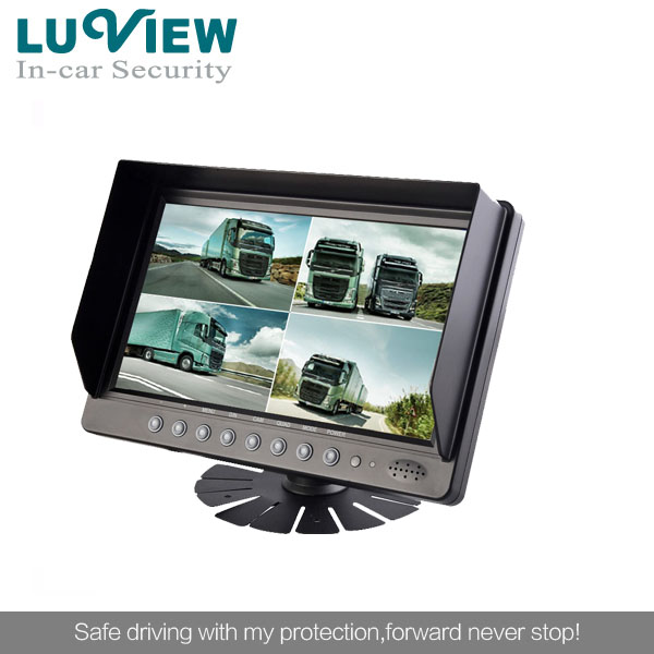 cheap price 9inch car monitor 2 channel digital lcd monitor