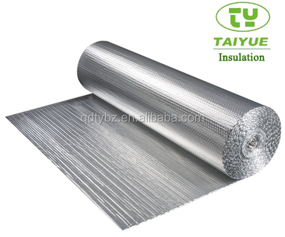 Fire retardant thin lead non combustible aluminum foil bubble film thermal insulation no dangers material for window for furnace