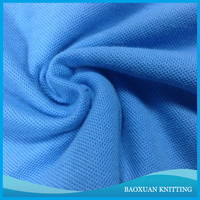 65%T 35%C polyester cotton cambridge blue pique polo mesh fabric for poly t-shirt/sportswear/sport hat