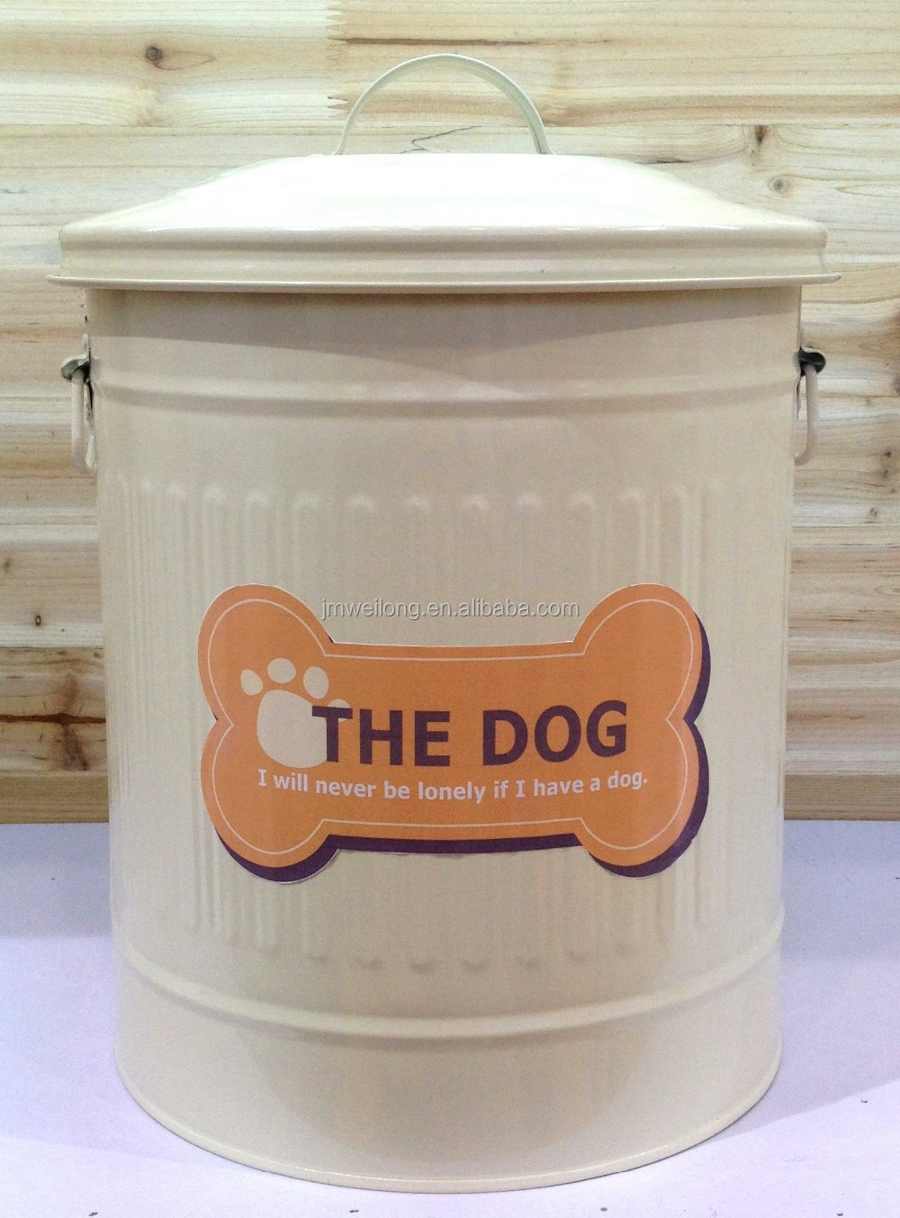 SY10972C & Metal Dog Pet Food Storage Bin Tin/galvanized Trash Can/garbage Bin ...