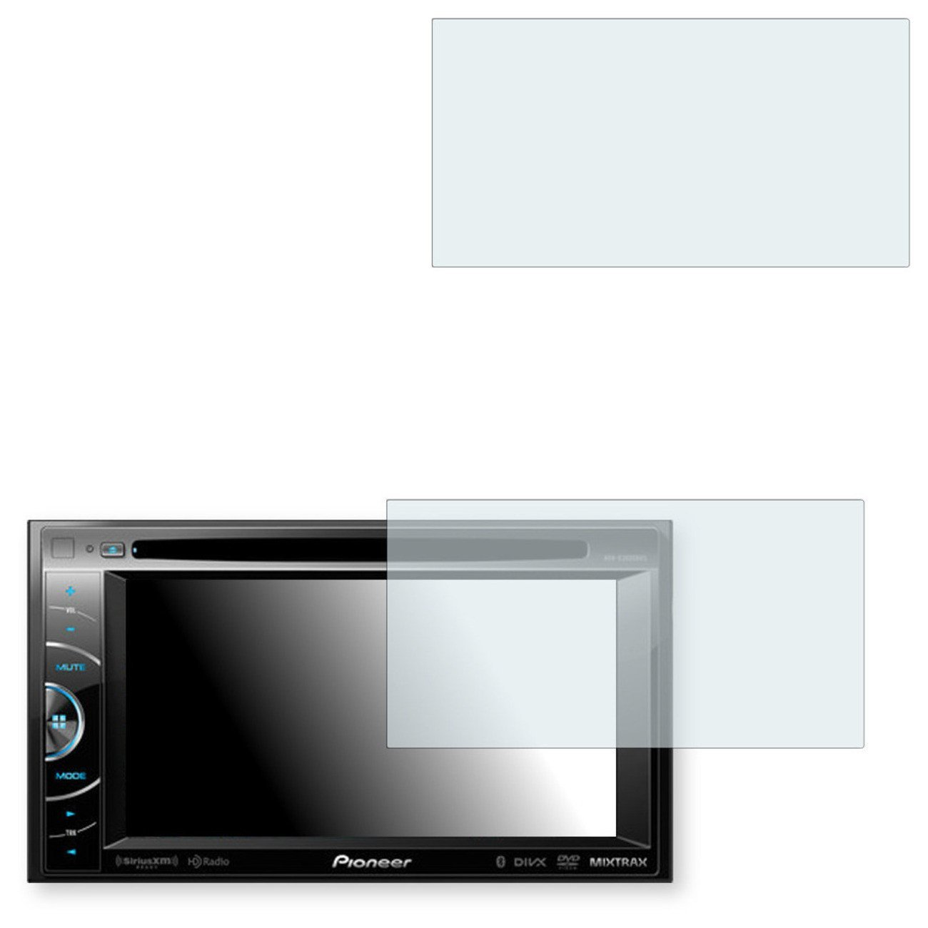 2x Golebo Crystal Clear screen protector for Pioneer AVH-X3600BHS - (Transparent screen protector, Air pocket free application, Easy to remove)
