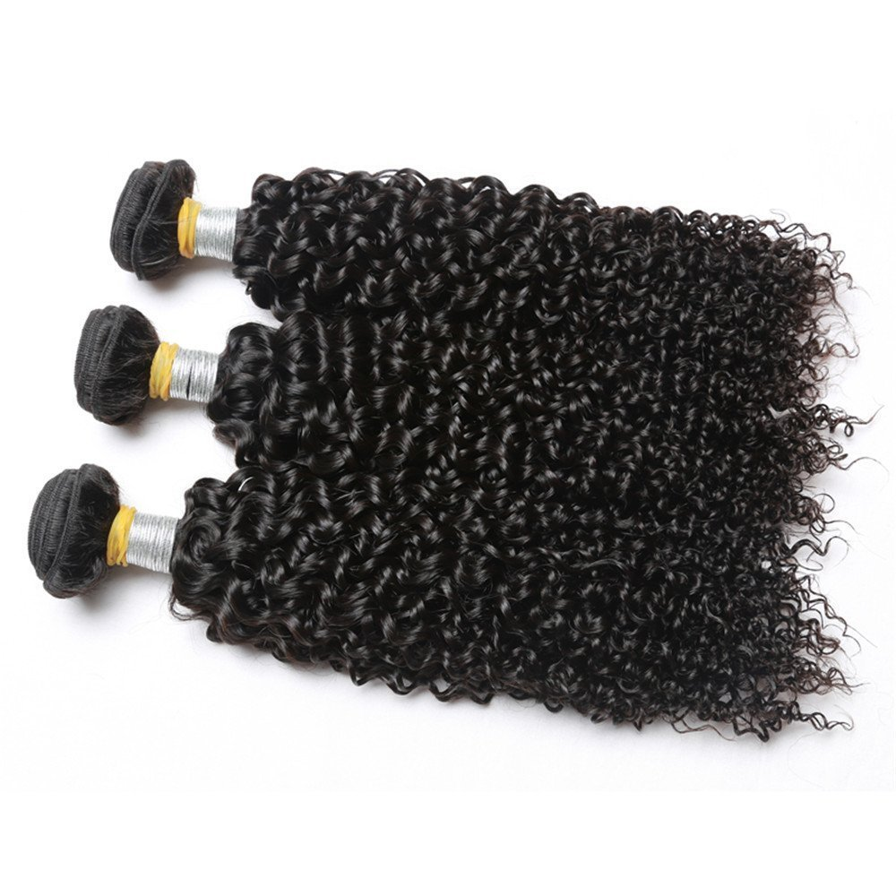 "Grade 8A Brazilian Kinky Curly Virgin Hair 4pcs/Lot 400g 14""14""16""16"" Natural Color 100% Unprocessed Human Hair Weave Yvonne Brazilian Kinky Curly Hair No Tangle No Shedding"