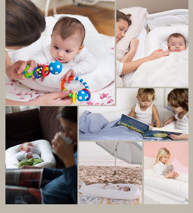 hot sell 3d air mesh portable and  Skin-friendly  baby nest bed