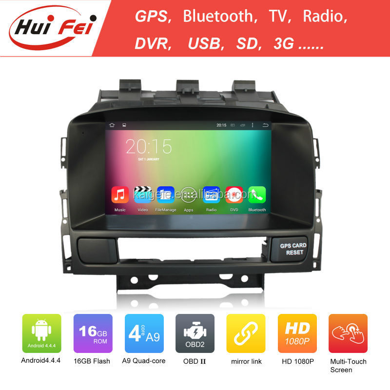 Huifei Quad Core A9 Android 4.4 Capacitive Screen 1024*600 Obd Dvr Mirror Link For Opel Astra J Car Navigation