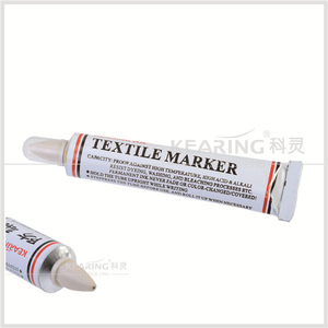Kearing Brand Yellow color permanent textile marker for sewing fabric marking can't be washed off # TM25-Y