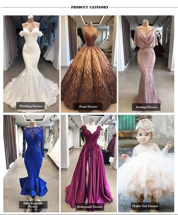 De tela de encaje vestido de boda brillante elegante vestido de novia vestido de boda vestidos