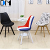 PU Oak Plastic Fabric Patchwork Bar Stools