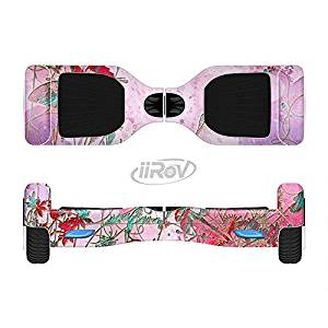 The Pink Bright Watercolor Floral Full-Body Wrap Skin Kit for the iiRov HoverBoards and other Scooter (HOVERBOARD NOT INCLUDED)