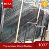 Black Grey Wood Marble Slab For Bathroom Sink