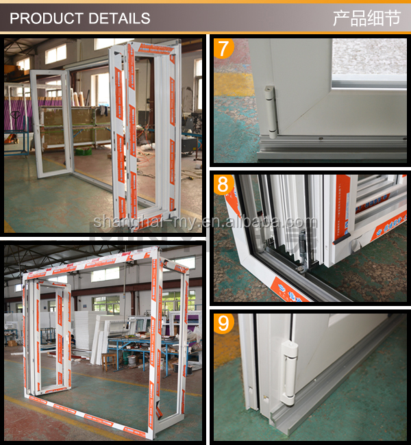 heat water defend 3+1 folding door customized size and color thermal break aluminum profile