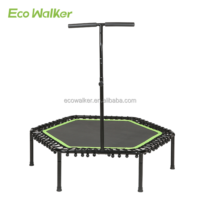 Hexagon trampoline met handvat bar