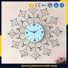 2017 new style China export sun shaped metal wall clock for home accessories