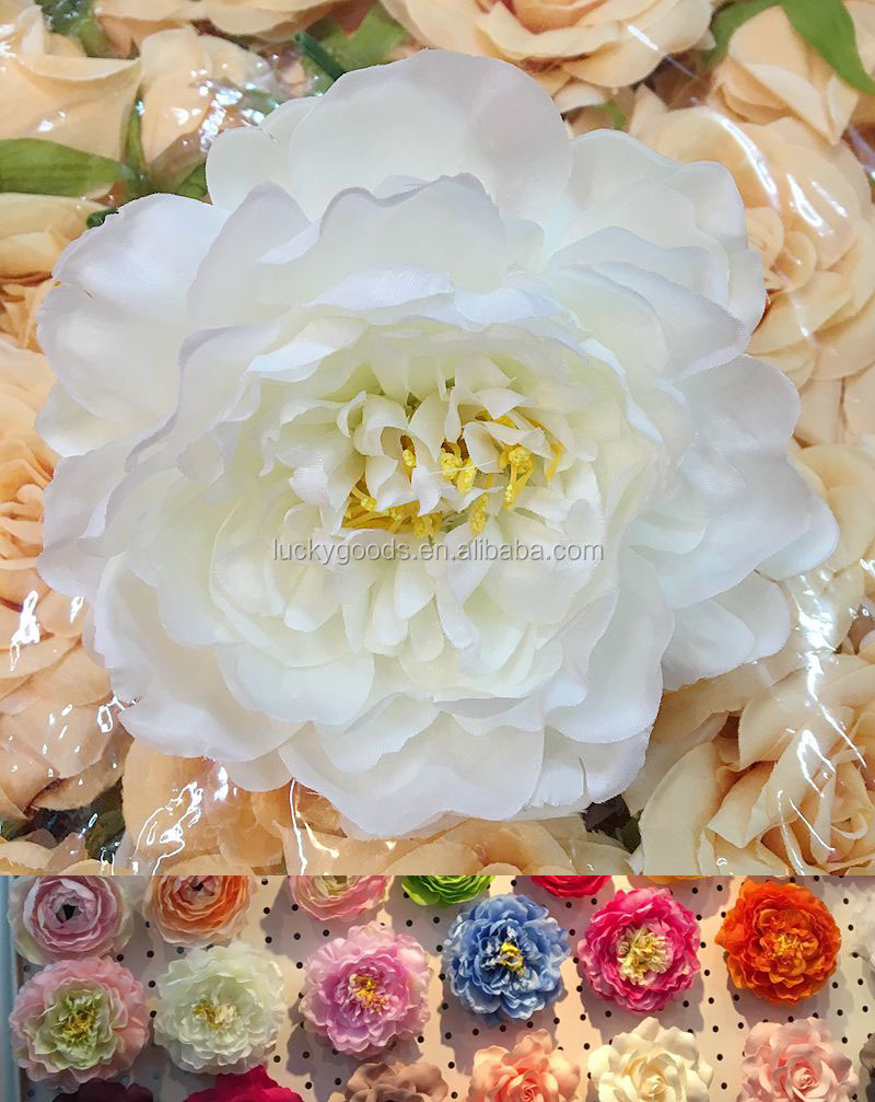 2015 new arrival fancy white silk head for wedding table flower arrangment