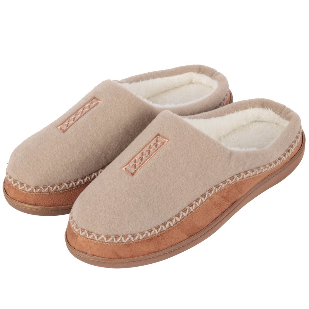 Home Slipper Mens Slippers,Cozy Fluffy Slip on Memory Foam Clog House Shoes Indoor/Outdoor