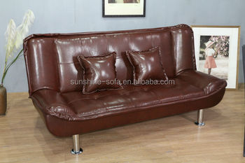 Leather Euro Style Folding Sofa Bed For Home Apartment