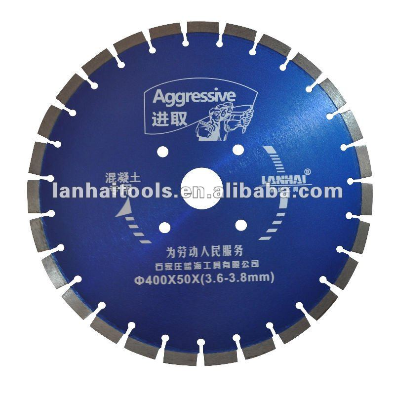 Vacuum Brazed diamond blade for reinforced concrete