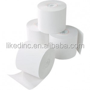 3'' Width Traditional Single Ply Cash Register POS Paper Roll for Guest receipt