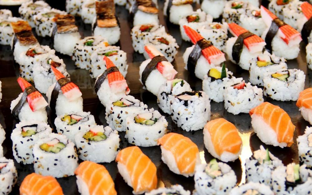 Food SUSHI japanese food rice japah <font><b>asian</b></font> oriental 1sushi fish seafood 4 Sizes <font><b>Home</b></font> <font><b>Decor</b></font> Canvas Poster Print