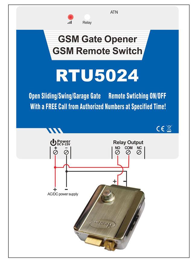 2G GSM ประตูที่ได้รับอนุญาตประตู Controller RTU5024