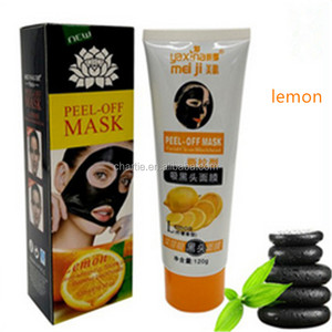 lemon peel off mask deep clean whitening facial care for face and nose