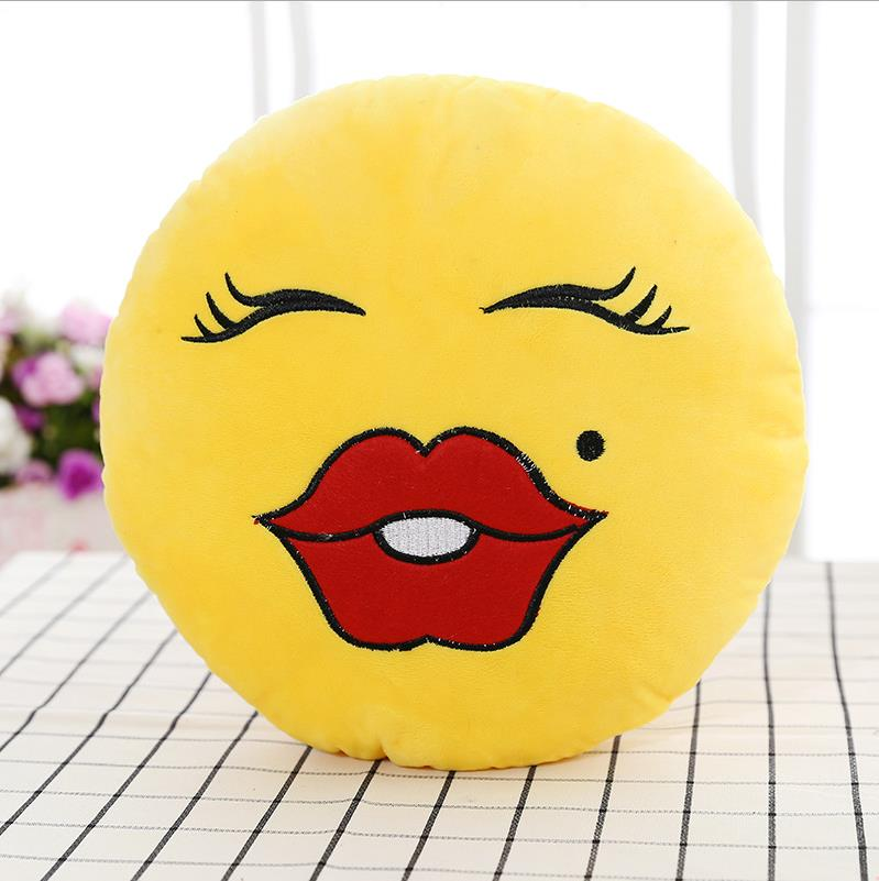 best selling custom embroidered emoji pillow ,warm and cute emoji pillow.