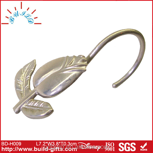 seashell shower curtain hooks/heart shaped shower curtain hooks