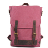 6914 Hot Fashion School Cute Rose Leather Canvas Backpacks for Teenagers Girls