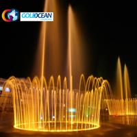 Free Design Large Outdoor Decoration Colorful Lighted Musical Floating Music Dancing Water Fountain for sale