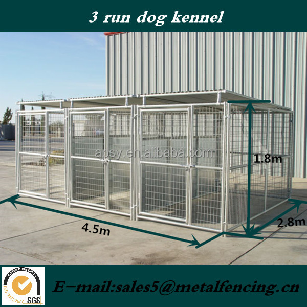 wholesale Large outdoor dog cages, welded wire dog kennel / pet enclosure.