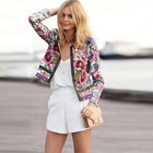 2019 New Design Ethnic Print Jacket Women's Cardigan Short Jacket Women Clothes