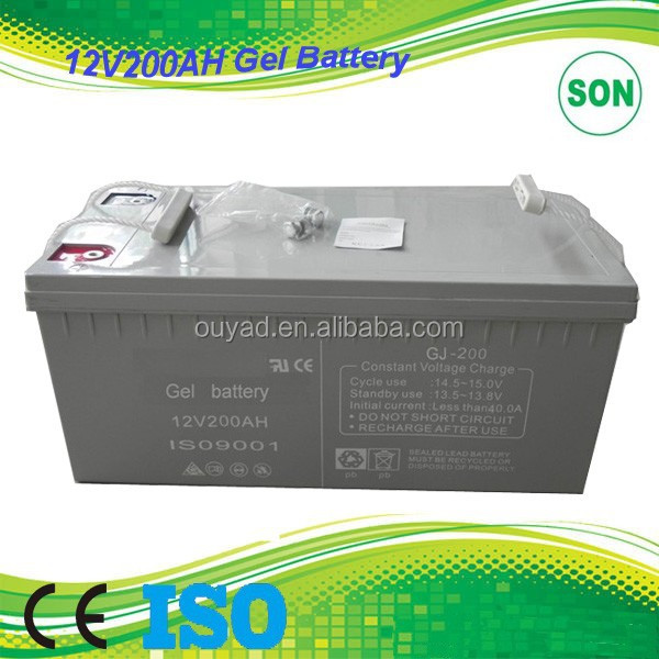 12V 200AH solar panel battery with excellent deep cycle ability