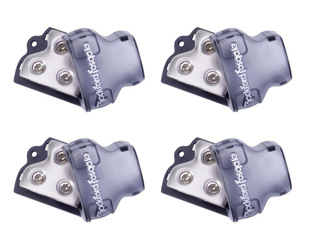 Buy 2 Q Power 1 0 Gauge 3000w Car Amplifier Wiring Installation Kit 4 Rockford Fosgate Rfd1 Ga Audio Distribution Blocks In Out