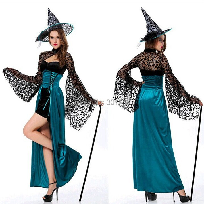 Buy Female Green Wicked Witch Costume Long Sleeve Lace Shrug Sdaucy
