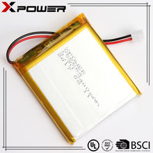 Xpower customized rechargeable li-ion lipo battery 3.7v 3400mAh for POS terminal POS machine