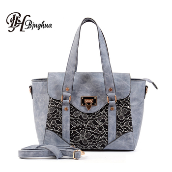 8fcc21408f0a B-3148 2018 New Design Hot Sell Customized Branded Lace Fashion Design Bag  Fancy Ladies