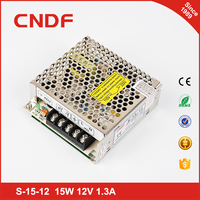 CNDF Yueqing cheap 12v 1.3A 15w AC TO DC Mini SMPS Switch Mode Power Supply S-15-12